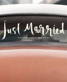 kate spade new york Just Married Bridal Decal - Handbags & Accessories - Macy's