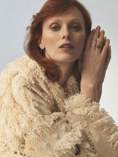 Karen Elson wearing Ulla Johnson's Raina jacket