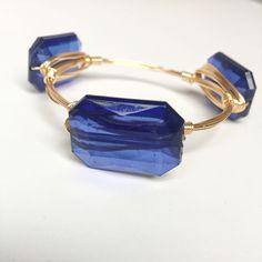 Blue Crystal Bangle