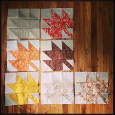 7 more #modernmaples blocks done today. #tmssews #sewing #quilting | Flickr - Photo Sharing!  -  love this pattern
