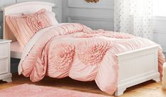 """A ruffled comforter set that'll have you demanding your besties call your room the """"royal chambers"""" every time they visit. 28 Bedding Sets You Won't Believe Are From Walmart Ruffle Comforter, Plaid Comforter, Bedroom Comforter Sets, Girls Bedding Sets, Best Bedding Sets, Girls Bedroom, One Bed, Full Bed, Quilt Sets"""