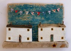 wooden home/house/ coastal scene artwork from -sixty one A