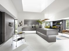 ALNO Kitchen Designs: The Alno brand stands for uncompromised quality european kitchens and innovative design features. Check out our latest kitchen designs. Alno Kitchen, Handleless Kitchen, Latest Kitchen Designs, German Kitchen, Luxury Kitchen Design, Kitchen Trends, Kitchen Ideas, Kitchen 2016, Kitchen Modern