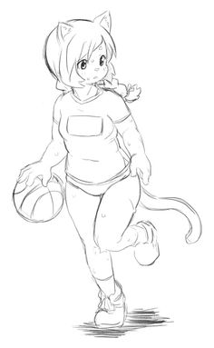 Daily Draw February 2013  Day 8:An unnamed kemono OC. It started out as a challenge from friends to draw a chubby character, and it turned out quite interesting to draw, eventually she became a member of the basketball team. I'll get to naming her soon.
