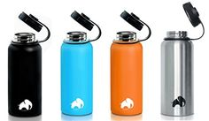 Stainless Steel Water Bottle By Cool Elephant  32 oz Water Bottle  Insulated Thermo  Double Walled Wide Mouth Bottle  Leak  Sweat Proof Bottle  NonToxic BPA Free  ColdHot Drinks For 12 Hours * You can find more details by visiting the image link.Note:It is affiliate link to Amazon.