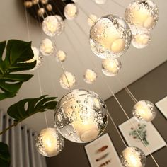 Modern Crystal Glass Ball LED Pendant Lights Fixtures Multiple Staircase Lamps Bar Hanging Lamp For Hotel Villa Duplex Apartment Buy on Aliexpress Chandelier Bulle, Bubble Chandelier, Crystal Chandelier Lighting, Led Pendant Lights, Glass Pendant Light, Pendant Chandelier, Pendant Light Fixtures, Modern Chandelier, Glass Pendants