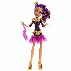 Monster High Frights Camera Action Black Carpet Clawdeen Wolf Doll