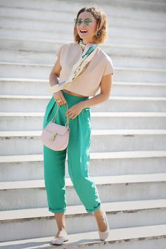 Clothes Style Tomboy Trousers Ideas For 2019 Casual Work Outfits, Mode Outfits, Stylish Outfits, Color Combinations For Clothes, Color Blocking Outfits, Looks Chic, Looks Style, Girl Fashion, Fashion Outfits