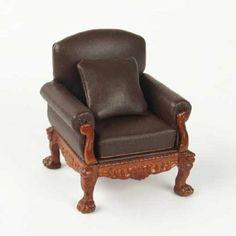 Amazon.com: Dollhouse Miniature Lion Leg Walnut Armchair: Toys & Games