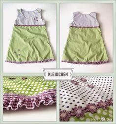 ännisews: Kinderkleid *Rüschending*
