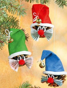 Christmas-crafts-from-pinecones2.jpg 394×516 pixels