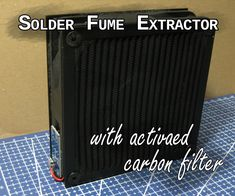 Solder Fume Extractor With Activated Carbon Filter