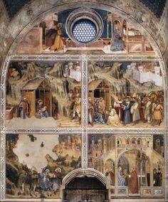 Het Oratorio di San Giorgio in Padua werd gebouwd in opdracht van Raimondino de' Lupi, tussen 1377 en 1378. Altichiero da Zevio werd aangesteld om de kapel van San Giorgio, Sint Joris, te decoreren. De frescoserie is het belangrijkste werk van Altichiero, maar had in de loop der eeuwen veel te verduren. In de periode van de Napoleontische oorlogen werden de muren zelfs witgekalkt. http://www.italieuitgelicht.nl/altichiero-da-zevios-frescos-in-het-oratorio-di-san-giorgio-padua-1378-84/