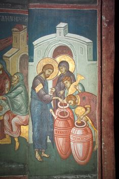 Marriage Feast in Cana Visoki Decani Monastery Kosovo Serbia West Arch: 69 Byzantine Art, Byzantine Icons, Life Of Christ, Holy Rosary, Jesus Pictures, Light Of The World, Religious Icons, Orthodox Icons, Sacred Art
