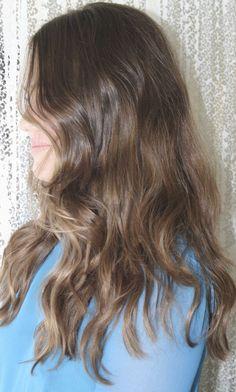 Light Ash Brown Hair Color | Dark chocolate brunette. Color by Kazumi Morton.