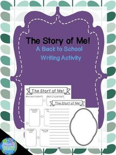 The Story of Me is a great Back to School community building activity for your students. Have them complete the graphic organizer with their favorite things, hopes and dreams, etc and then use the provided paper to write their story. Also included is a mirror frame for your students to draw their own self portrait! Come check it out!