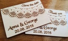 Laser cut engraved save the date wooden magnets, wedding thank you cards, personalised wooden magnets wedding favours x 10 pieces by Stylishmoments on Etsy