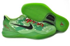 753d57d35ff8 Nike Zoom Kobe VIII Day 2012 Christmas Day 2012 Grinch Green Red Black  555035 701 Shoes