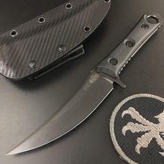 Microtech Borka Custom Black Fixed Blade Knife SBK Persian M390 Blade