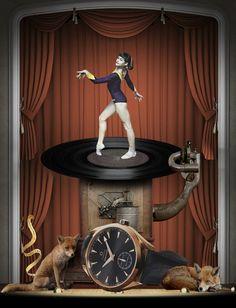 Illustration for snob  http://vsemart.com/painting-collage-art-igor-skaletsky/