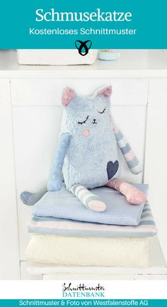 Tutorial: Schmusekatze nähen Kittens baby cats for free Sewing Projects For Kids, Sewing For Kids, Diy For Kids, Sewing Patterns Free, Free Sewing, Sewing Tutorials, Tutorial Sewing, Sewing Hacks, Gratis Download