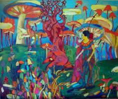 "Saatchi Art Artist Ksenija Studene; Painting, ""I live in a theatrical performance"" #art"