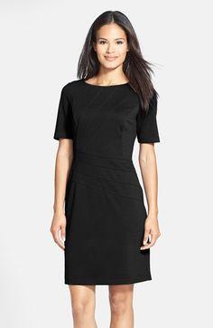 9af6cc9ada2 Ellen Tracy Seam Detail Ponte Sheath Dress (Regular   Petite) available at   Nordstrom
