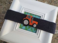 Tractor Baby Sweatbands by BandBinas on Etsy, $10.00