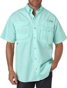 columbia men's bonehead? short-sleeve shirt - gulf stream (xl)