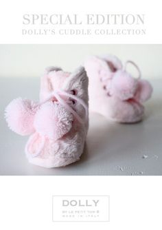 DOLLY by Le Petit Tom ® BABY BOOTS 3boot pink plush