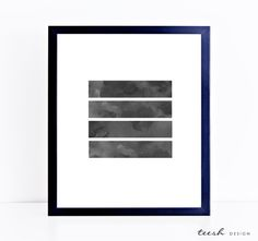 Printable minimalist art of lines in watercolour grey.  This purchase is an instant download. You can print the item as many time as you like and at