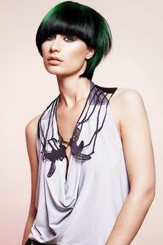 green and black hair color