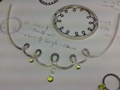 Necklaces and brooch in bits, by Diana Greenwood