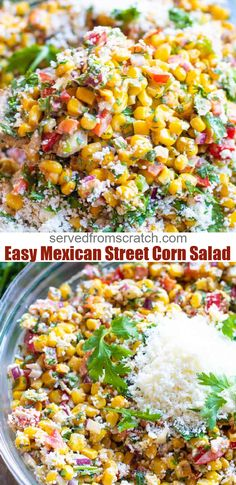 Mexican Street Corn Salad, Mexican Street Food, Best Mexican Street Corn Recipe, Authentic Mexican Recipes, Vegetarian Recipes, Cooking Recipes, Healthy Recipes, Healthy Food, Cooking Tips