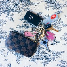 Preppy keychain keys travel