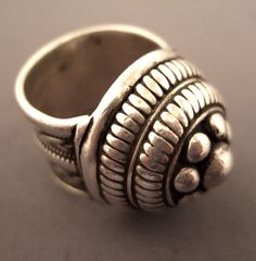 India   Ring from Rajasthan; where architectural motives and shaped dome design recall many historic monuments of Rajasthan   Silver   Sold
