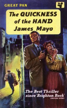 The Quickness of the Hand by James Mayo. Covert Art: Pat Owen. Vintage Pan paperback book cover.