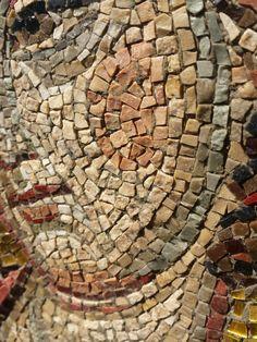 Byzantine Mosaics, Byzantine Art, Pebble Mosaic, Mosaic Art, Henry Winter, Mosaic Portrait, Simple Icon, Fresco, Style Icons