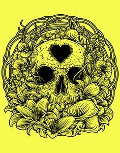 Skull and Heart ~ Dan Mumford