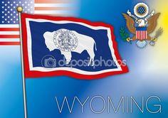 Bandiera del Wyoming — Vettoriali Stock © frizio #77322538
