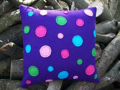 Purple Wool 'Orbits' Cushion / Pillow by WoollyLakes on Etsy, £22.00