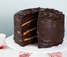 Chocolate and Salted Caramel Cake: Savour layers of fudgy chocolate cake with addictive salted caramel and ganache. http://www.bakers-corner.com.auhttps://www.bakers-corner.com.au/recipes/sweetened-condensed-milk-recipes/condensed-milk-caramel/chocolate-and-salted-caramel-cake/