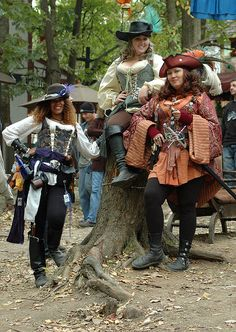 Female Pirate Trio (2) Crop by Dysonstarr, via Flickr