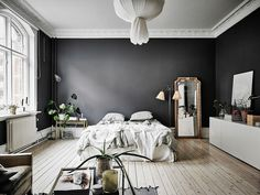 A gorgeous, gorgeous space!            Entrance Makleri The post Dreamy, dark and spacious studio in Gothenburg appeared first on Daily Dream Decor.
