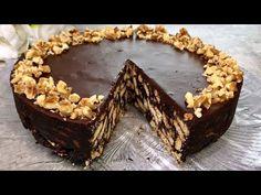 Schokoladenkuchen wie in der Kindheit... in wenigen Minuten fertig! Ohne backen! # 60 - YouTube Chocolate Biscuit Cake, Greek Pastries, Cake Recipes, Dessert Recipes, Delicious Chocolate, Chocolate Lovers, Baking Tips, Tiramisu, Sweet Bread