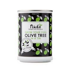Nudo Grow your own olive tree in a tin - http://www.yourgourmetgifts.com/nudo-grow-your-own-olive-tree-in-a-tin/