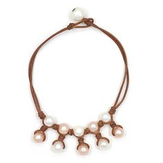 Wendy Mignot Fine Pearls and Leather Jewelry the authentic world renowned brand defining Gypset Style and Bohemium Chic presents the Kea Freshwater Pearl Anklet Multicolor from the Coastal Collection. Discover Wendy Mignot Designs in the eBoutique.
