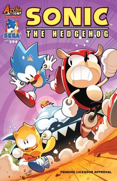 """""""Memories"""": Sonic reminisces with his buddies Mighty and Ray, but Sonic and Mighty disagree on how they met. Can their friendship survive their egos' revisions? Then in """"Baking Bad,"""" Bunnie and Antoine put their competitive cooking skills to the test! Featuring cover art by Tyson Hesse and a """"Kooky Kitchen variant"""" by Jennifer Hernandez! Date: 4/26"""