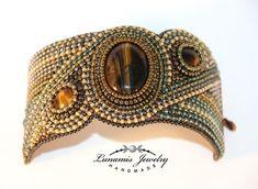 bracelet, bead embroidery, beading, toho, handmade, jewelry, manchette, bead #embroiderybracelets