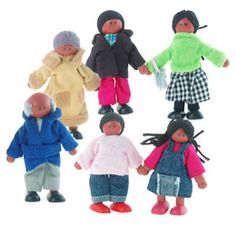 Wooden Multicultural Dolls (Hape or Plan Toys brand)